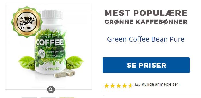 Grønne kaffebønner pure